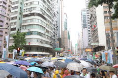 Hong Kong 1 Juli marscherar 2014 Royaltyfria Foton