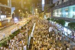 Hong Kong 1 Juli marscherar 2014 Arkivbilder