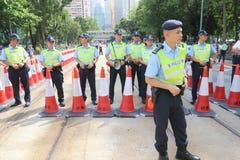 Hong Kong 1 Juli marscherar 2014 Arkivfoton