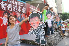 Hong Kong 1 Juli marscherar 2014 Royaltyfri Foto