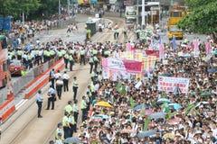Hong Kong 1 Juli-Marsen 2014 Royalty-vrije Stock Foto's