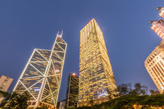 Hong Kong - JULY 31, 2014: Bank of China office on Royalty Free Stock Photography