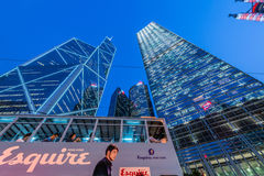 Hong Kong - JULY 31, 2014: Bank of China office on Royalty Free Stock Photos