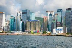 Hong Kong - JULY 27, 2014: Hong Kong skyline on Stock Photos