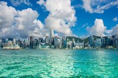 Hong Kong - JULY 27, 2014: Hong Kong skyline on Royalty Free Stock Images