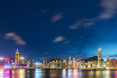 Hong Kong - JULY 27, 2014: Hong Kong skyline on Royalty Free Stock Image