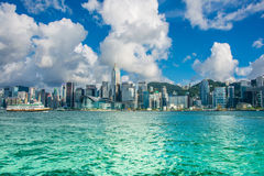 Hong Kong - JULY 27, 2014: Hong Kong skyline on Royalty Free Stock Photography