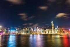 Hong Kong - JULY 27, 2014: Hong Kong skyline on Stock Images