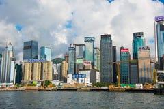 Hong Kong - JULY 27, 2014: Hong Kong skyline on Stock Photo