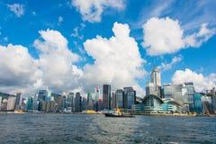Hong Kong - JULY 27, 2014: Hong Kong skyline on Stock Image