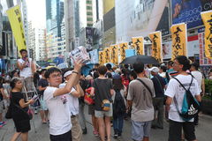 Hong Kong 1 July marches 2015 Stock Images