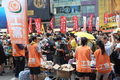 Hong Kong 1 July marches 2015 Stock Photo