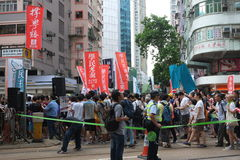 Hong Kong 1 July marches 2015 Royalty Free Stock Photos