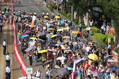 Hong Kong 1 July marches 2015 Royalty Free Stock Photography