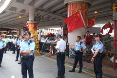 Hong Kong 1 July marches 2015 Royalty Free Stock Images