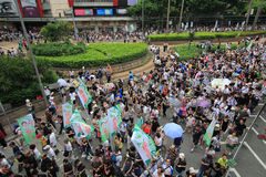 Hong kong 1 july marches 2012 Stock Photos