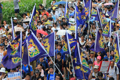 Hong kong 1 july marches 2012 Stock Photo