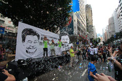 Hong kong 1 july marches 2012 Stock Image