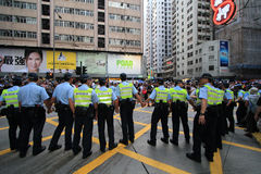Hong kong 1 july marches 2012 Royalty Free Stock Photo