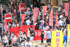 Hong kong 1 july marches 2012 Stock Images
