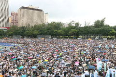 Hong Kong 1 July Marches 2014 Stock Image