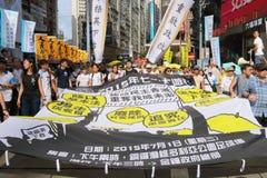 Hong Kong 1 July Marches 2015 Royalty Free Stock Photography