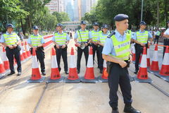 Hong Kong 1 July Marches 2015 Stock Photos