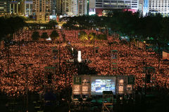 HONG KONG, JUNE 4: People join the Memorials for the Tiananmen S Stock Image