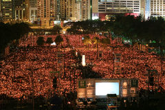 HONG KONG, JUNE 4: People join the Memorials for the Tiananmen S Stock Photo