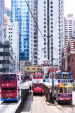 HONG KONG - JUNE 08: Public transport on the street Royalty Free Stock Photography