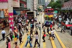 Hong Kong. JUNE 02, 2015: streets of . , is an autonomous territory on the southern coast of China at the Pearl River Estuary and the South China Sea Stock Images