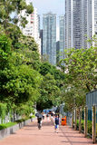Hong Kong. JUNE 03, 2015: streets of . , is an autonomous territory on the southern coast of China at the Pearl River Estuary and the South China Sea Royalty Free Stock Photography