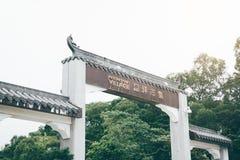 HONG KONG - 19. Juni 2018: Ngong-Klingelndorf in Lantau-Insel I lizenzfreies stockbild