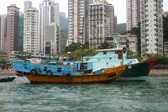 Hong kong junk alpha. Hong Kong junk at anchor stock photos