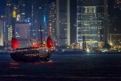 Hong Kong Junk Ship Imagen de archivo libre de regalías