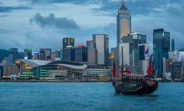 Hong Kong Junk Ship immagini stock libere da diritti