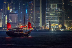 Hong Kong Junk Ship Royalty Free Stock Image