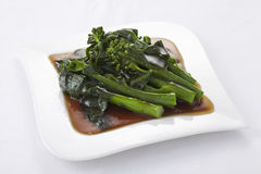 Hong Kong Kale stir fried in oyster sauce Stock Image