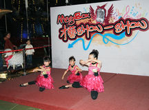 Hong Kong Kids christmas dancing event Royalty Free Stock Photos