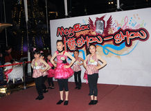 Hong Kong Kids christmas dancing event Stock Photos
