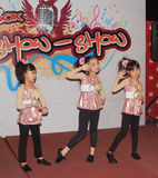 Hong Kong Kids christmas dancing event Royalty Free Stock Photo