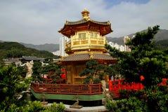 Hong Kong Kina: Guld- paviljong Arkivbild