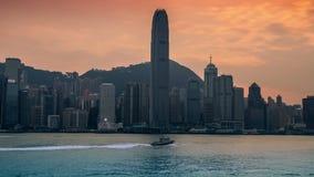 Hong Kong Kina horisontpanorama Victoria Harbor 4K TimeLapse - Augusti 2016, Hong Kong lager videofilmer
