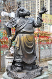 Hong Kong Kina - Juni 25, 2014: Kinesisk St för zodiakbronshäst royaltyfri foto