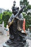 Hong Kong Kina - Juni 25, 2014: Kinesisk statistik för zodiakbronssvin arkivbilder