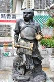 Hong Kong Kina - Juni 25, 2014: Kinesisk zodiakbrons Tiger St arkivbilder