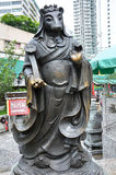 Hong Kong Kina - Juni 25, 2014: Kinesisk zodiakbrons tjaller statistik arkivfoto