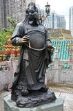 Hong Kong Kina - Juni 25, 2014: Kinesisk zodiakbronstupp royaltyfri fotografi