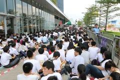Hong Kong klasy bojkota kampania 2014 Fotografia Stock
