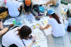 Hong Kong klasy bojkota kampania 2014 Obraz Royalty Free